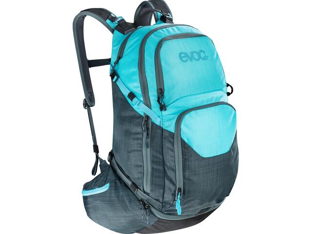 EVOC Explr Pro Technical Performance Reppu 30l, heather slate-heather neon blue